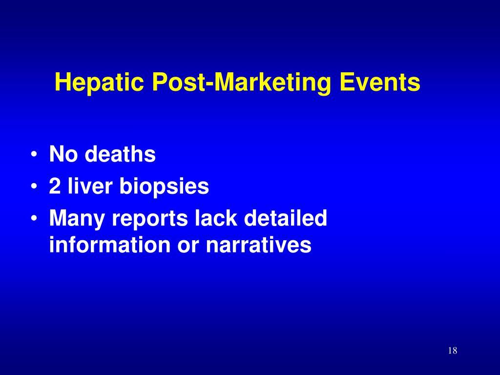 Hepatic Post-Marketing Events