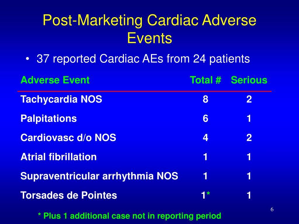 Post-Marketing Cardiac Adverse Events