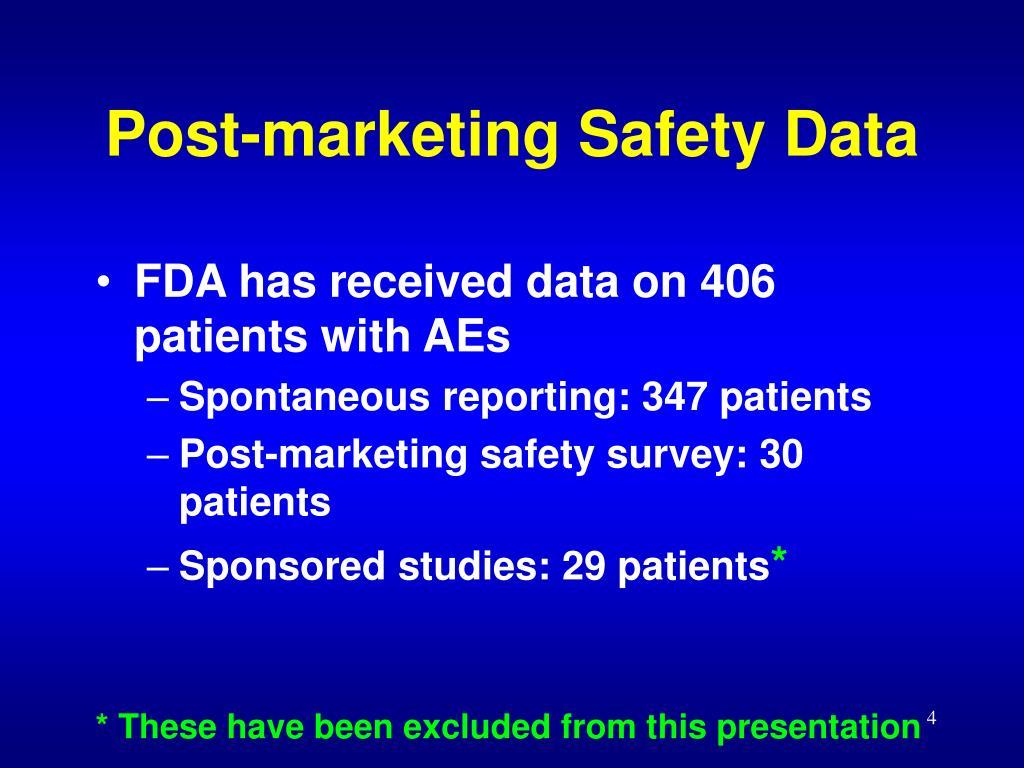 Post-marketing Safety Data