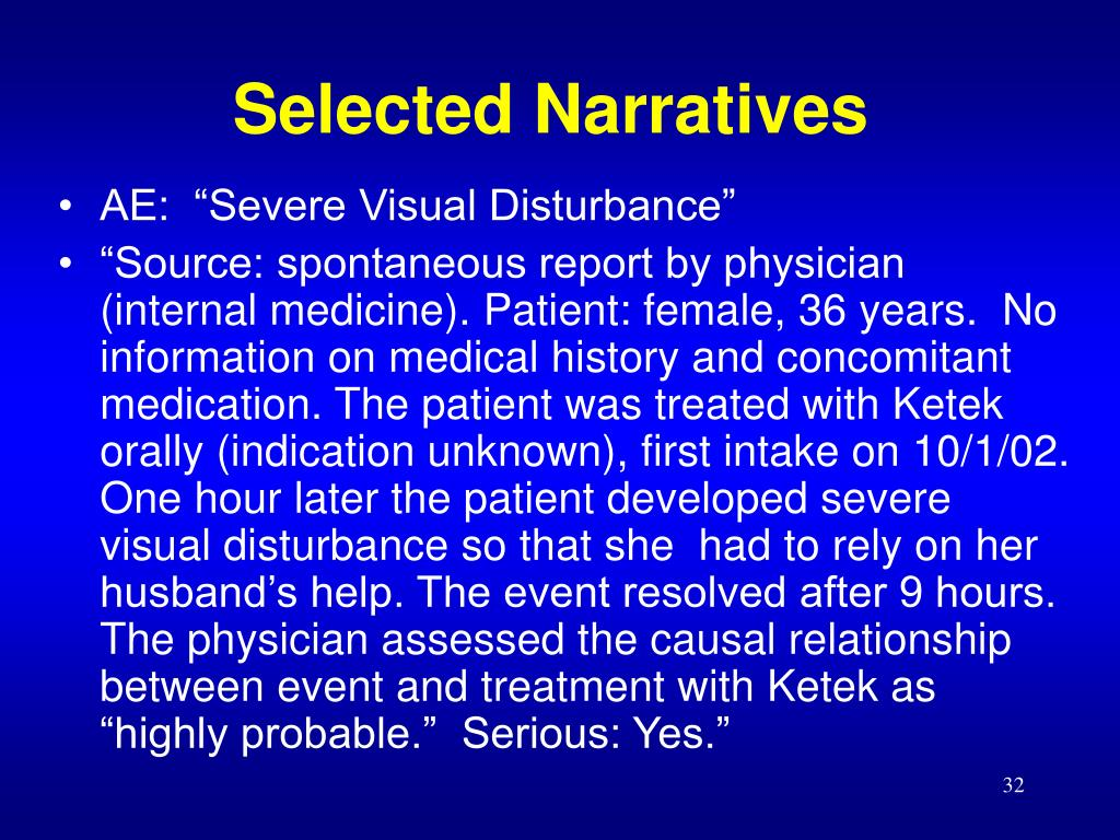 Selected Narratives