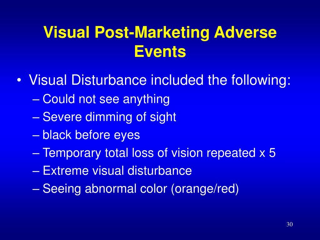 Visual Post-Marketing Adverse Events