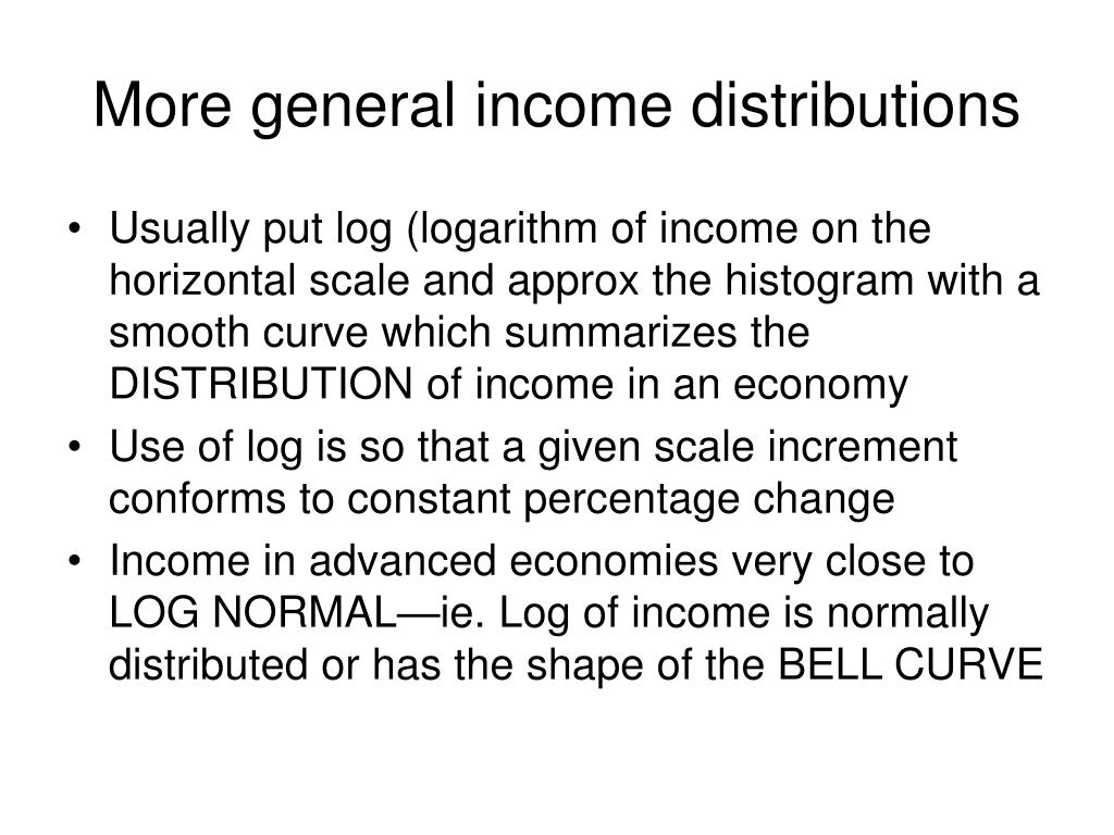 More general income distributions