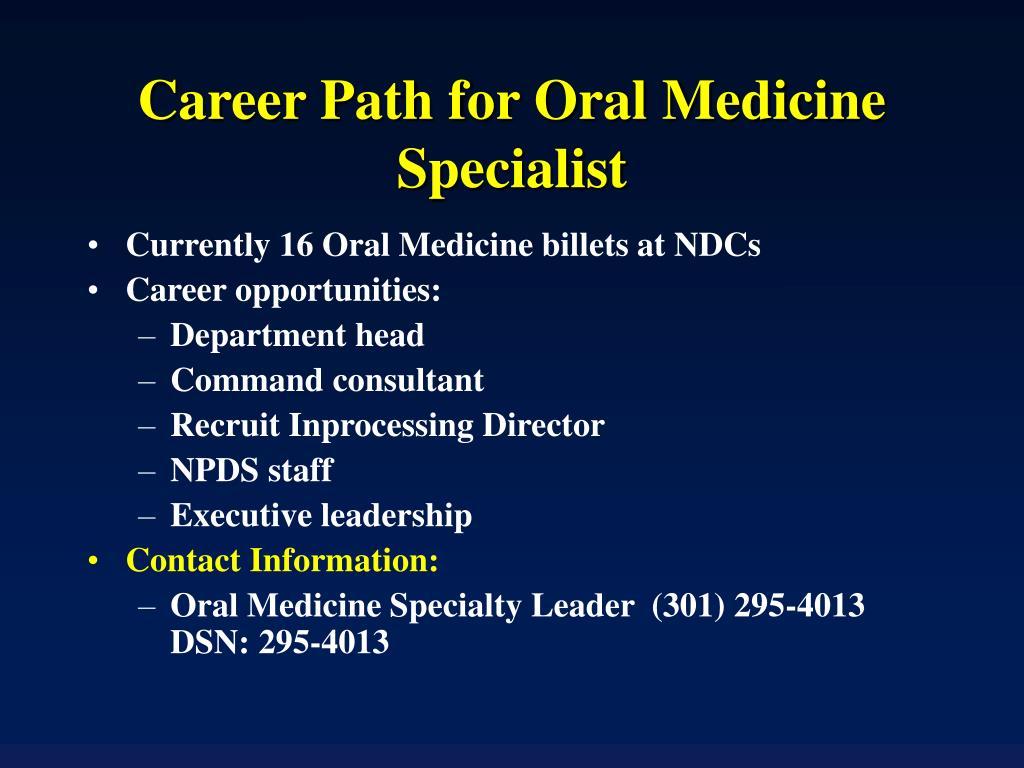 Career Path for Oral Medicine Specialist