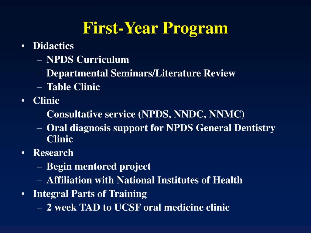 First-Year Program