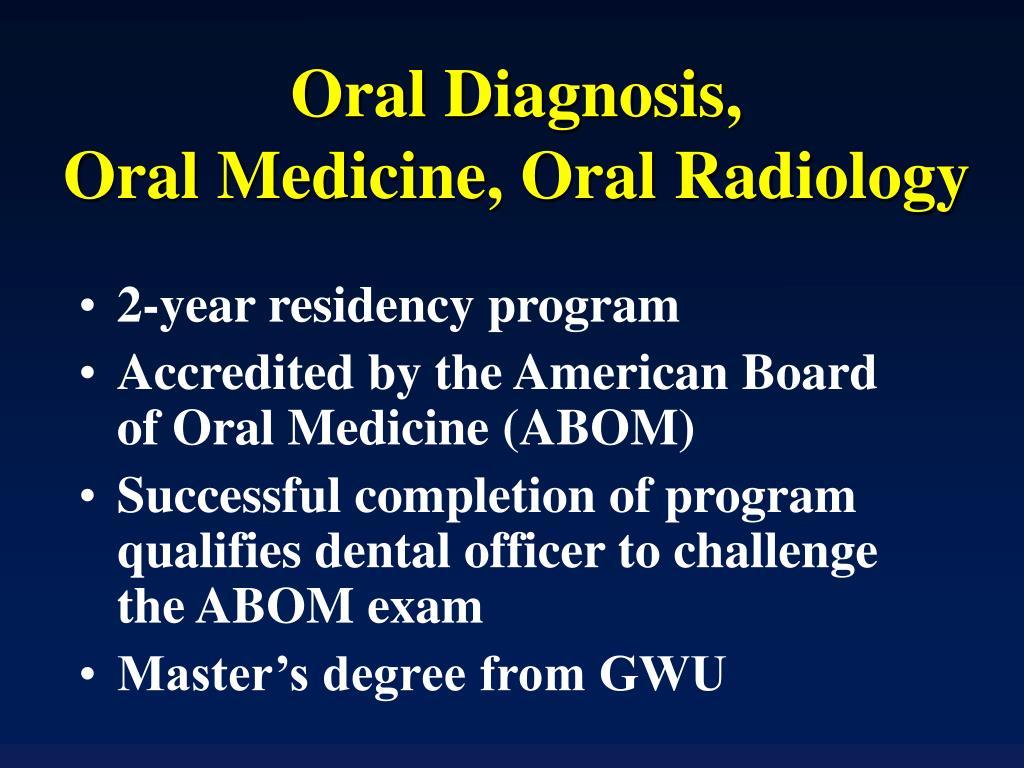 Oral Diagnosis,