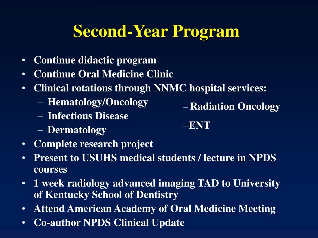 Second-Year Program