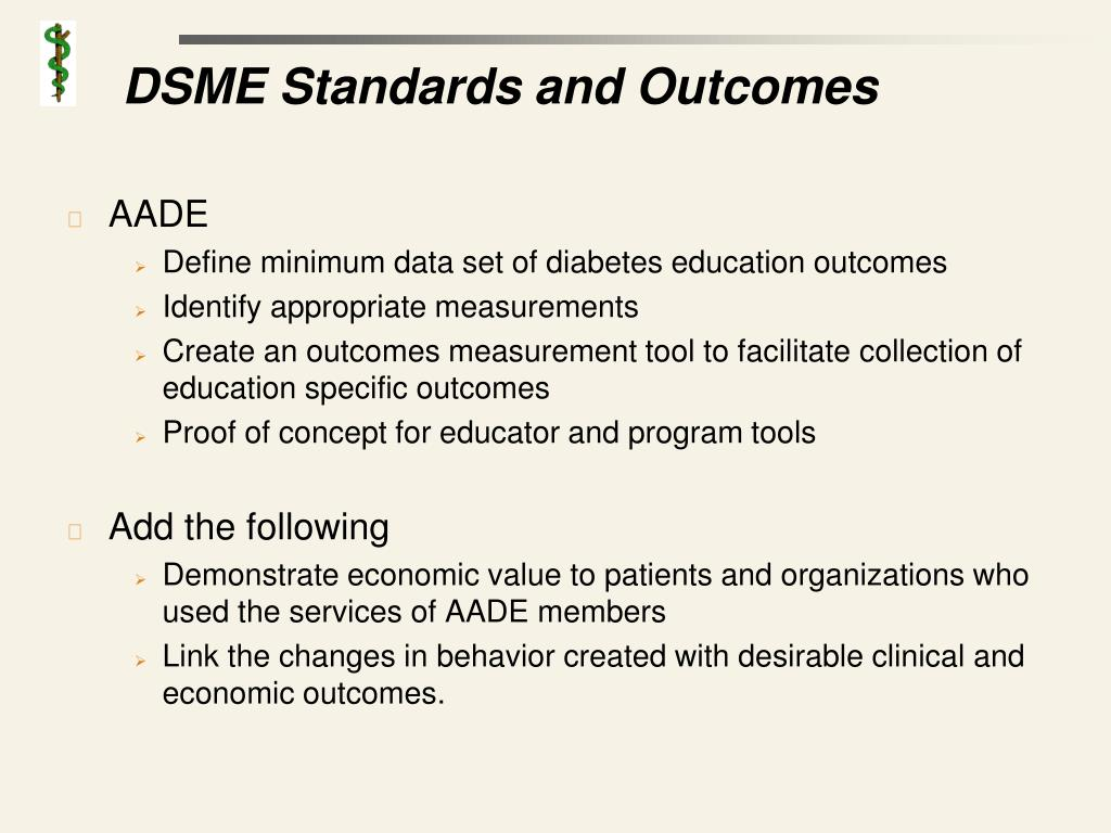 DSME Standards and Outcomes