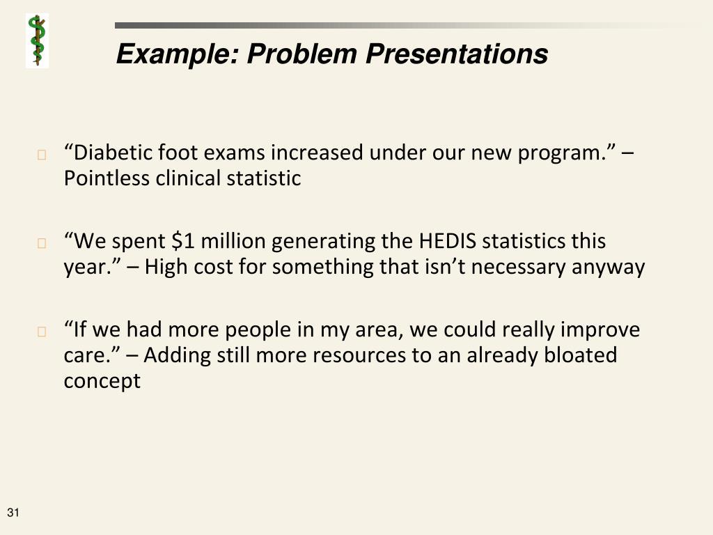 Example: Problem Presentations