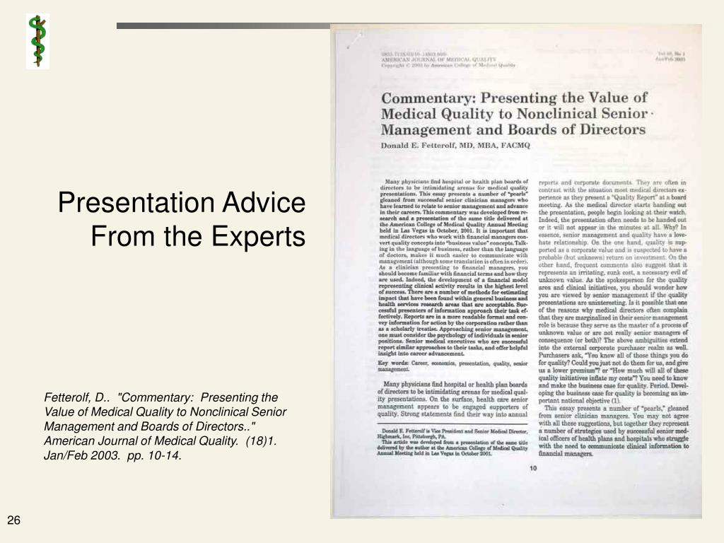 Presentation Advice From the Experts