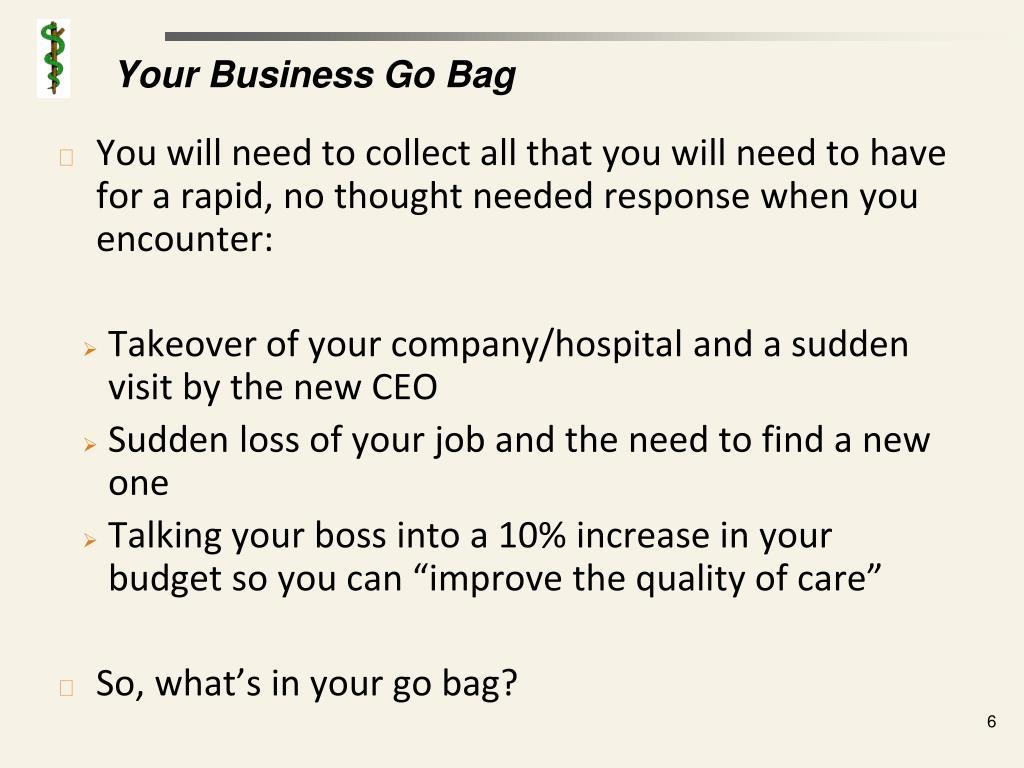Your Business Go Bag