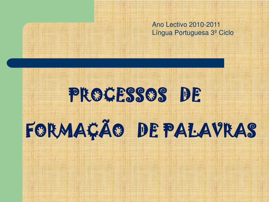 Ano Lectivo 2010-2011