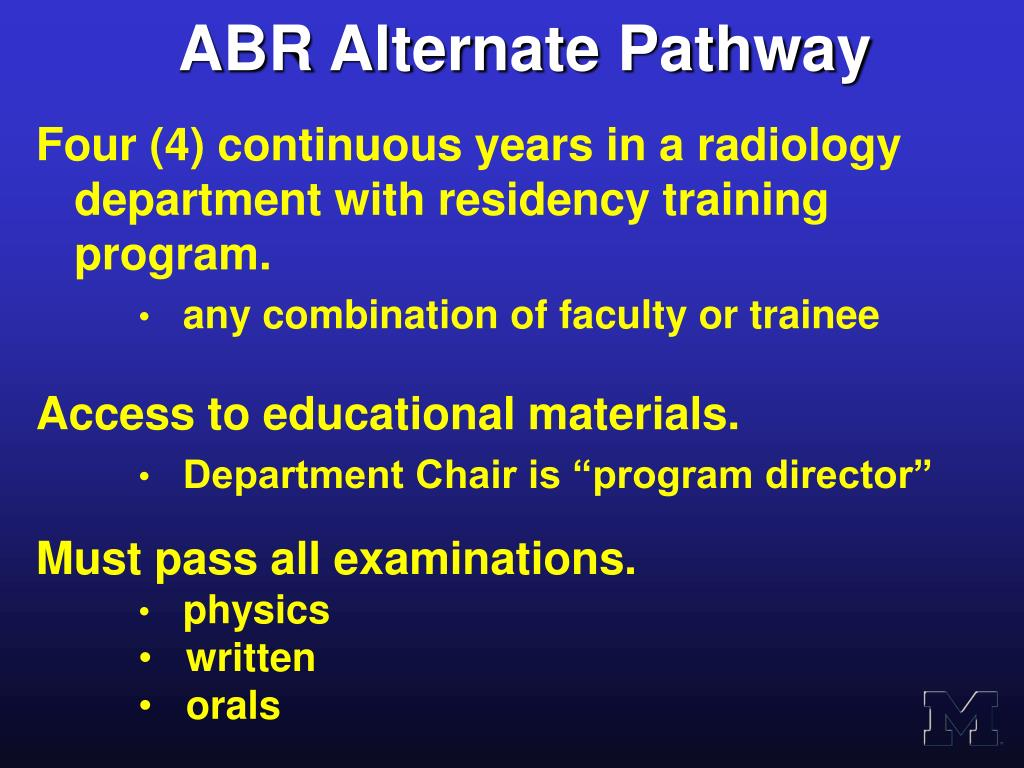 ABR Alternate Pathway