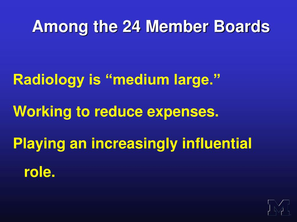 Among the 24 Member Boards