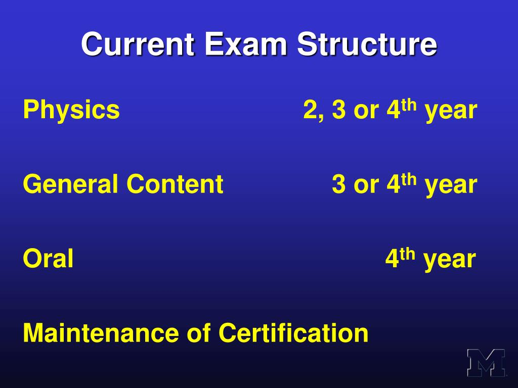 Current Exam Structure
