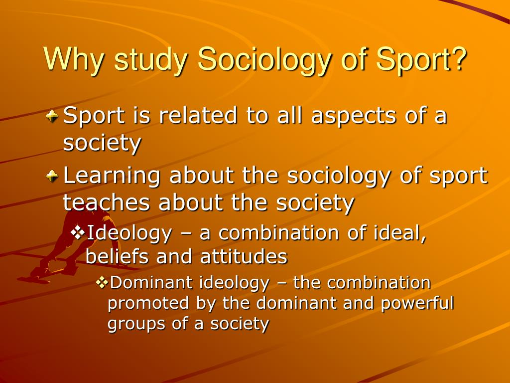 sport sociology Sport is a major component in daily life today sport plays a huge role in our everyday life whether it's mentally, physically or spiritually, sport has a big.