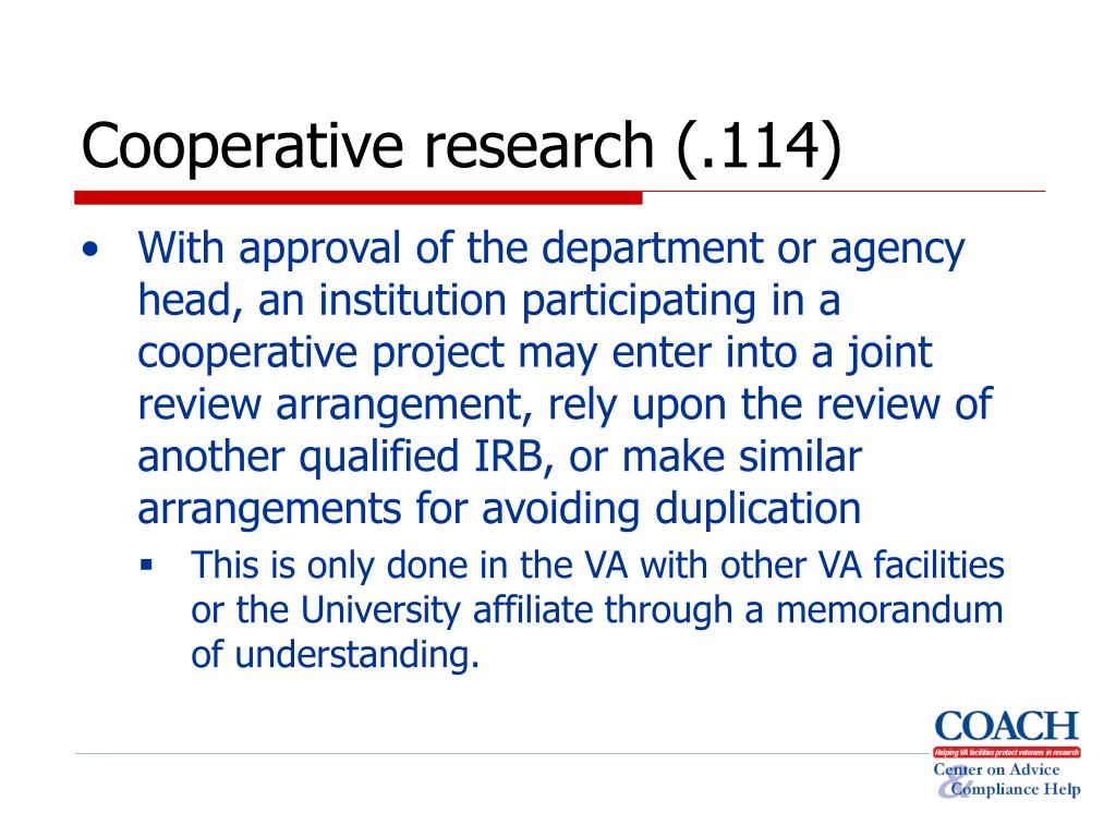 Cooperative research (.114)
