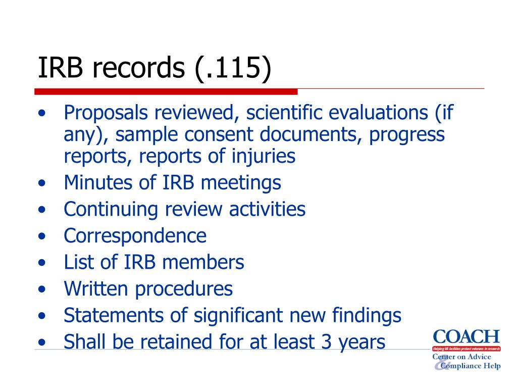 IRB records (.115)