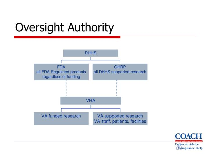 Oversight authority l.jpg