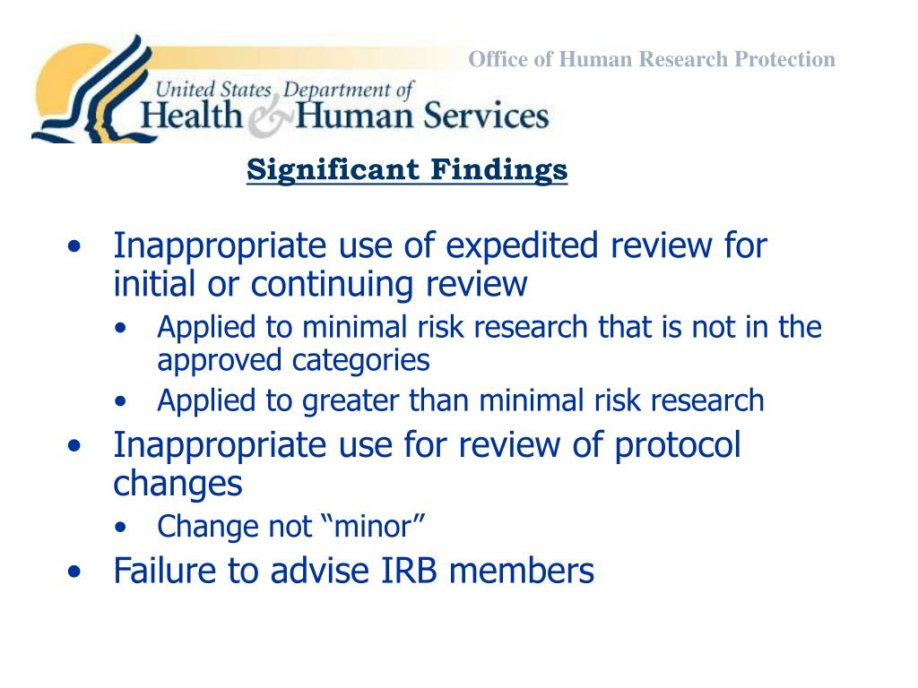 Office of Human Research Protection