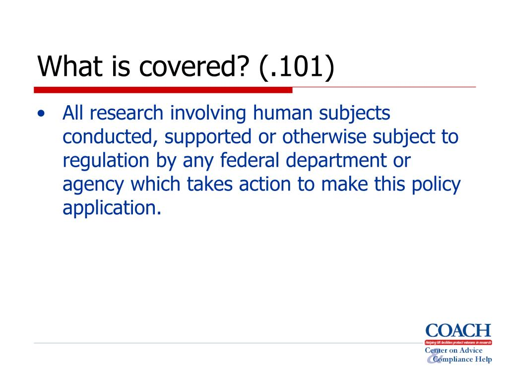 What is covered? (.101)