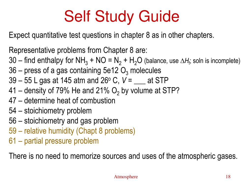 Self Study Guide