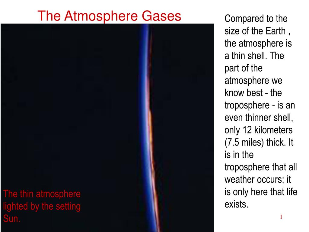 The Atmosphere Gases