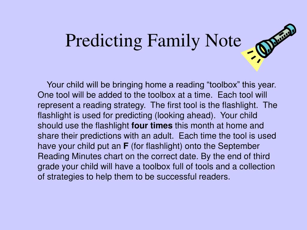 Predicting Family Note