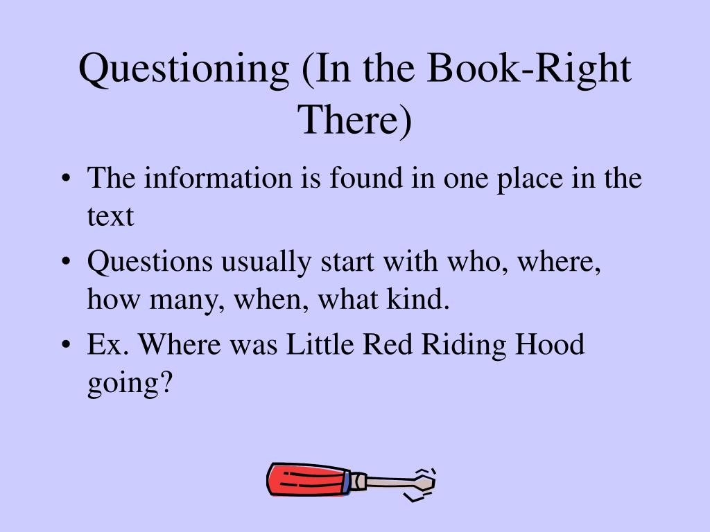 Questioning (In the Book-Right There)