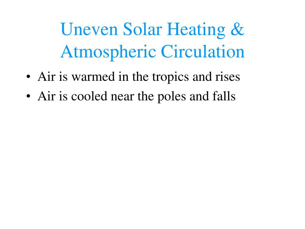 Uneven Solar Heating & Atmospheric Circulation