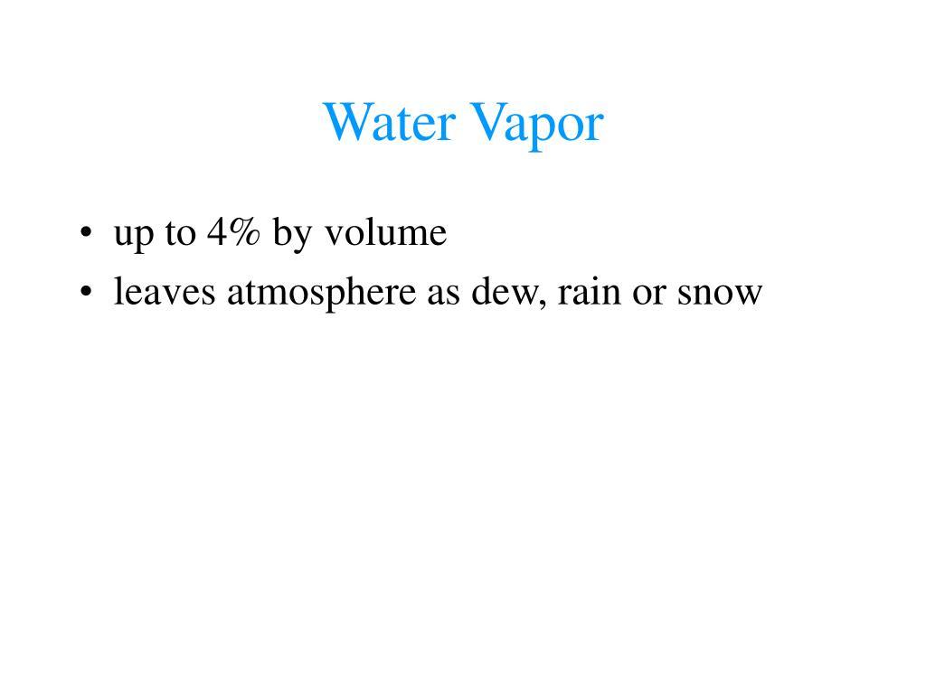 Water Vapor
