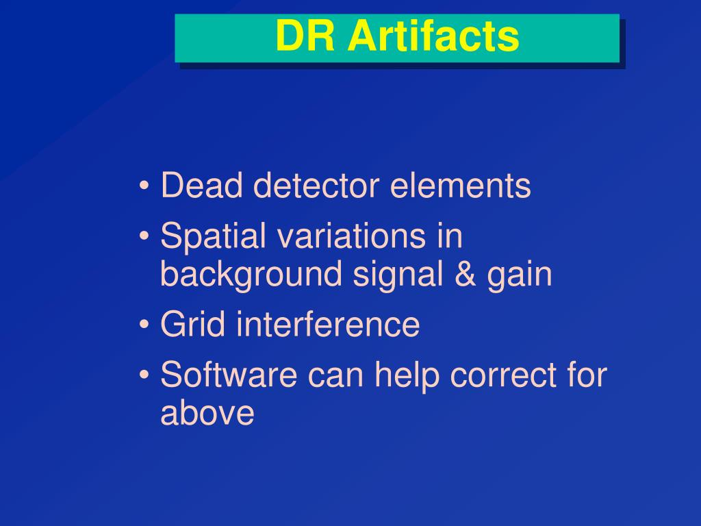DR Artifacts