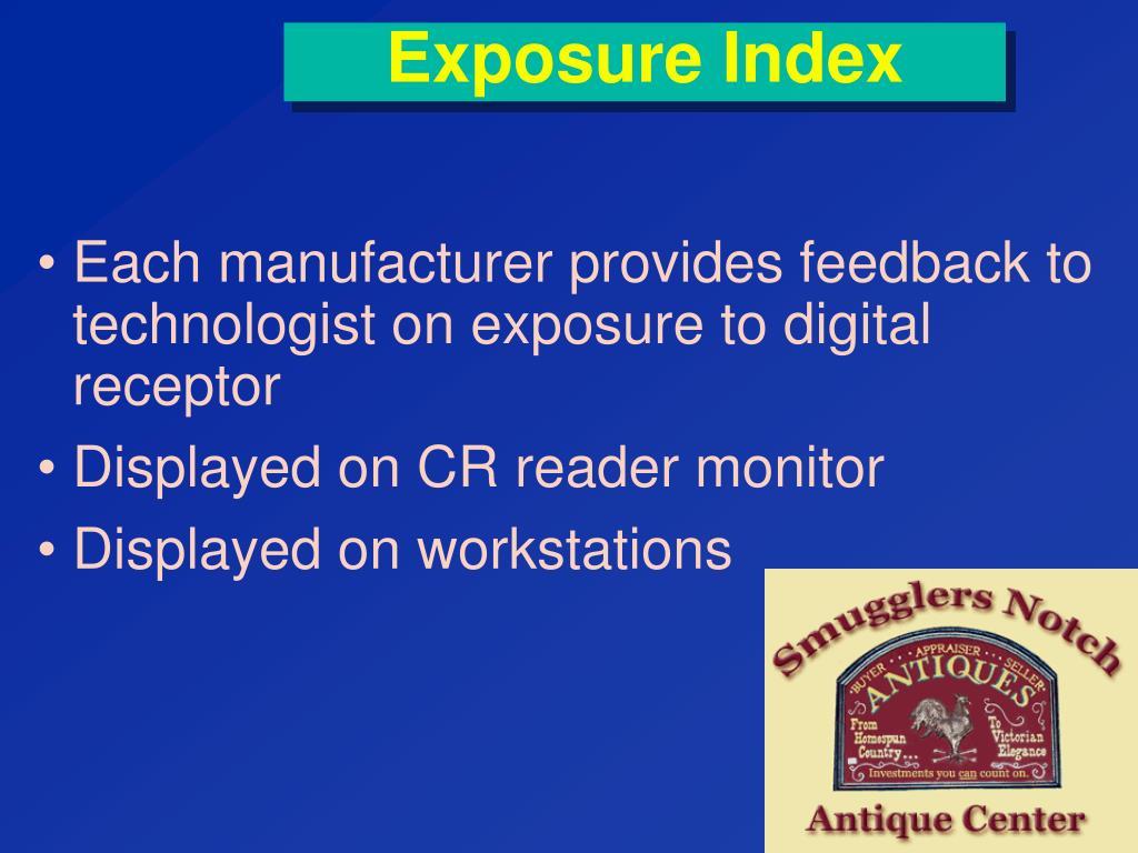 Exposure Index