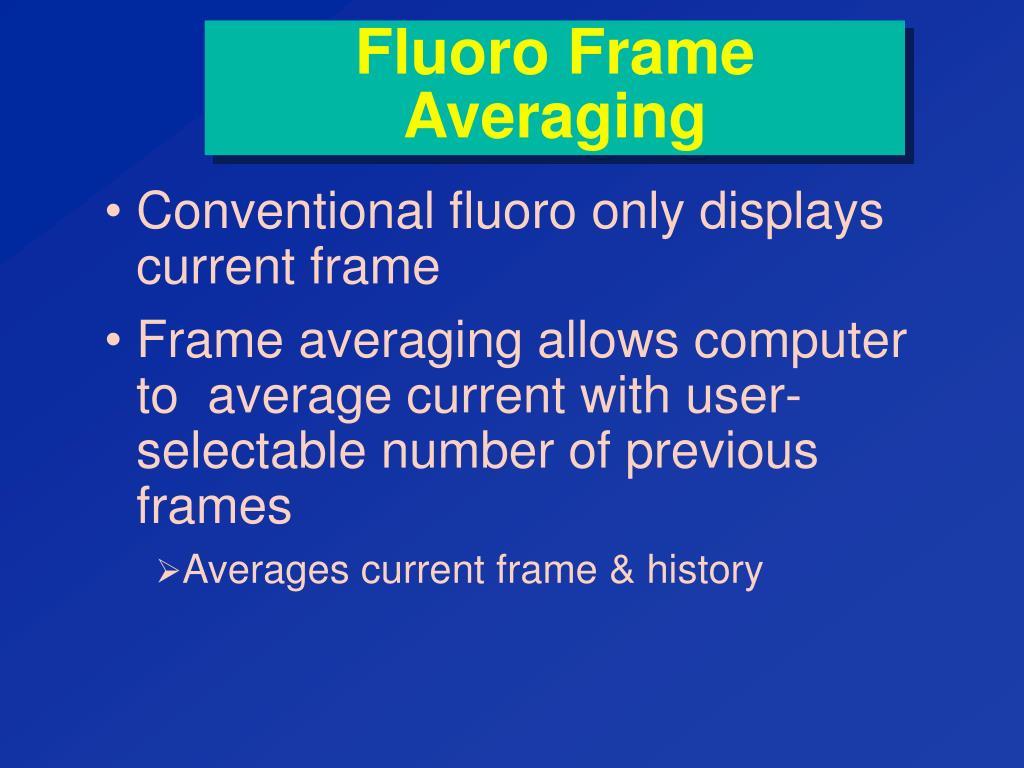 Fluoro Frame Averaging