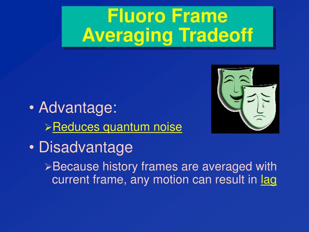 Fluoro Frame Averaging Tradeoff