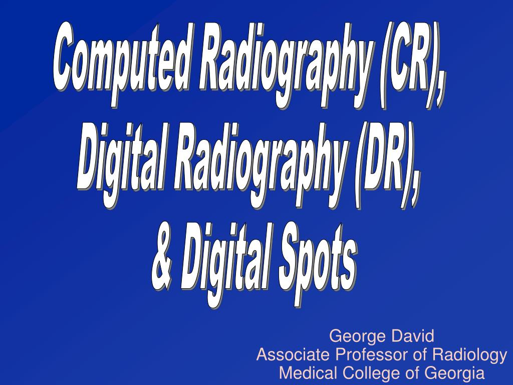 Computed Radiography (CR),