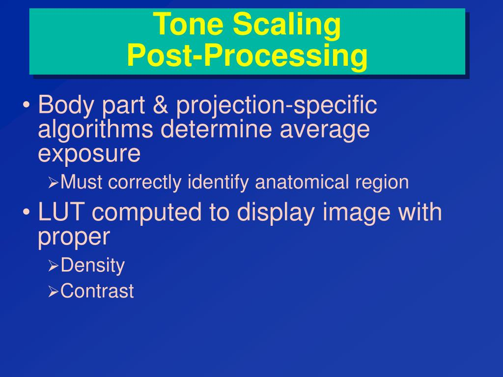 Tone Scaling