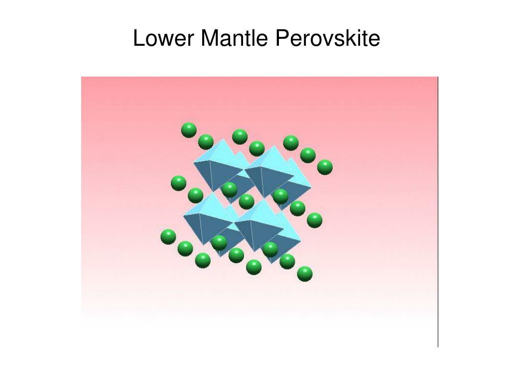 Lower Mantle Perovskite