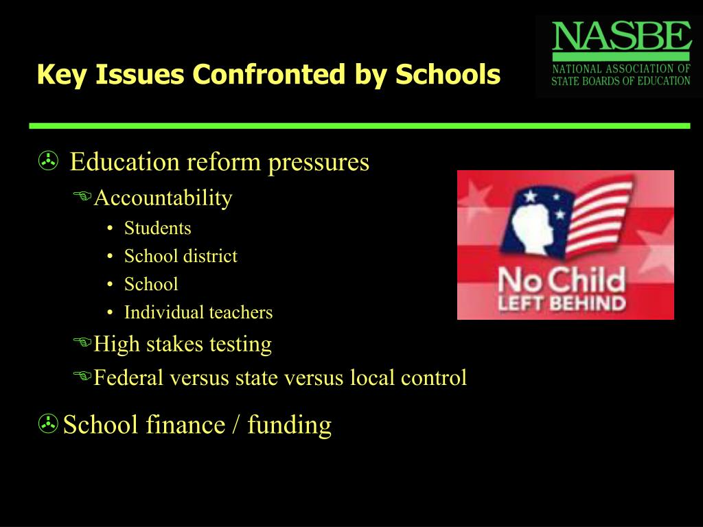 Key Issues Confronted by Schools