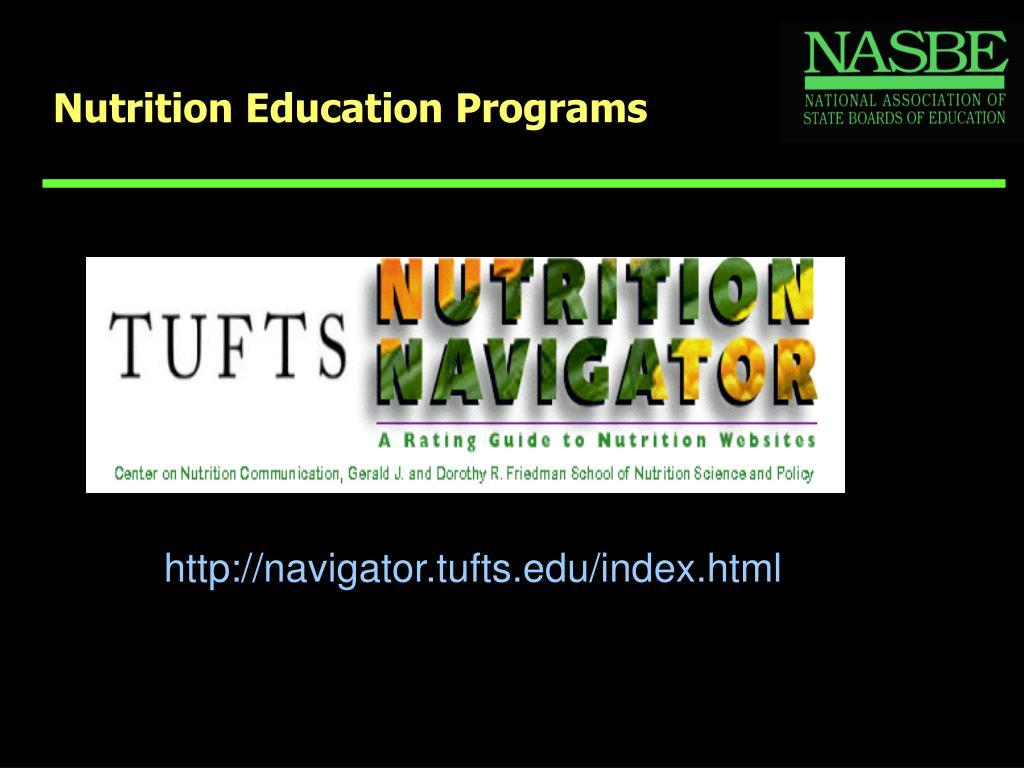 Nutrition Education Programs