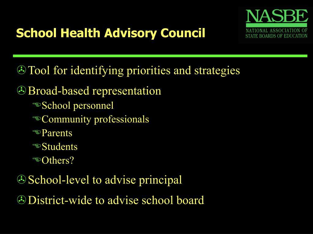 School Health Advisory Council