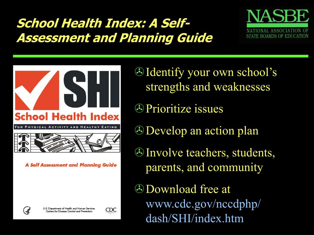School Health Index: A Self-Assessment and Planning Guide