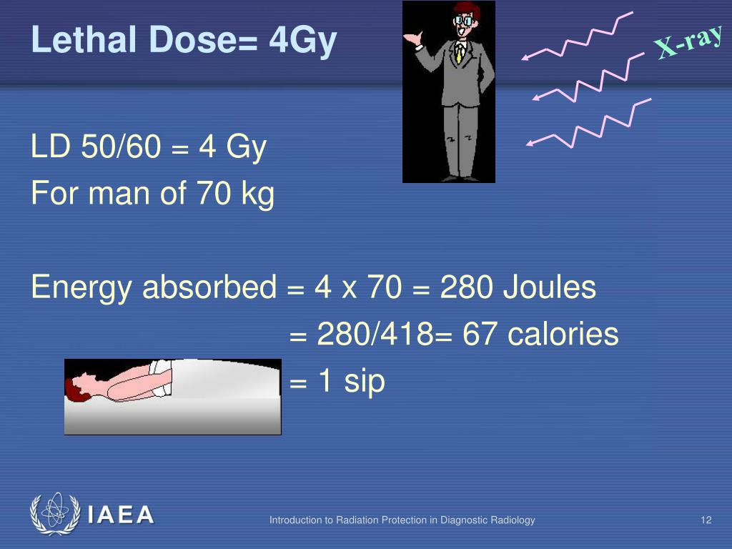 Lethal Dose= 4Gy