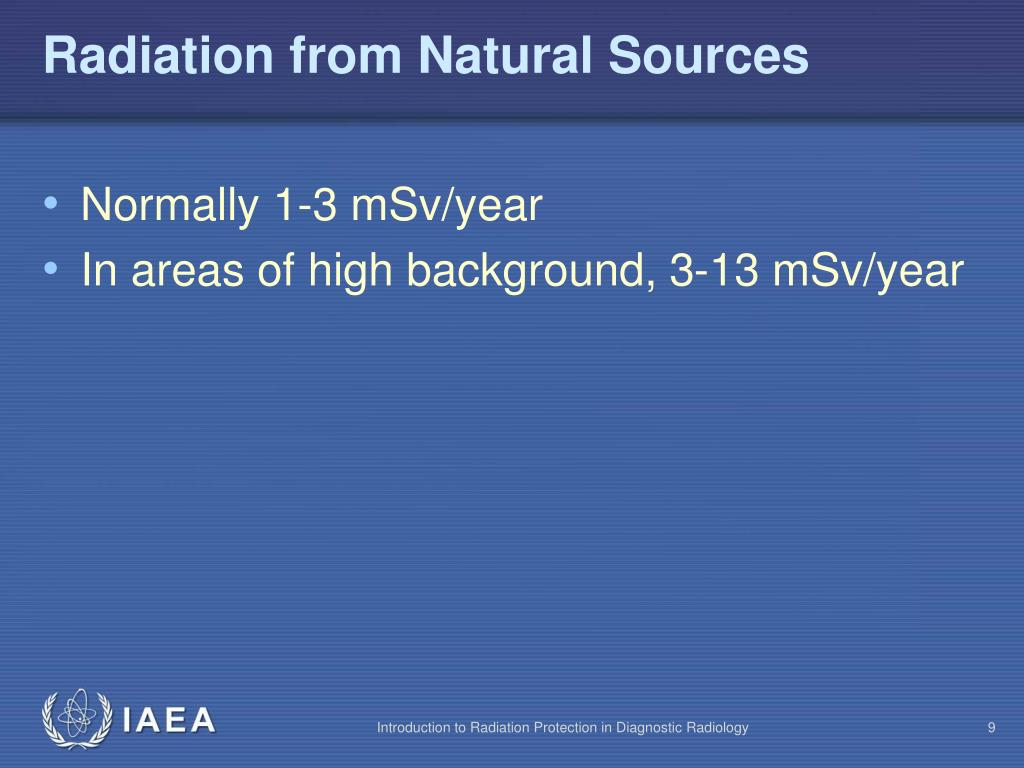 Radiation from Natural Sources
