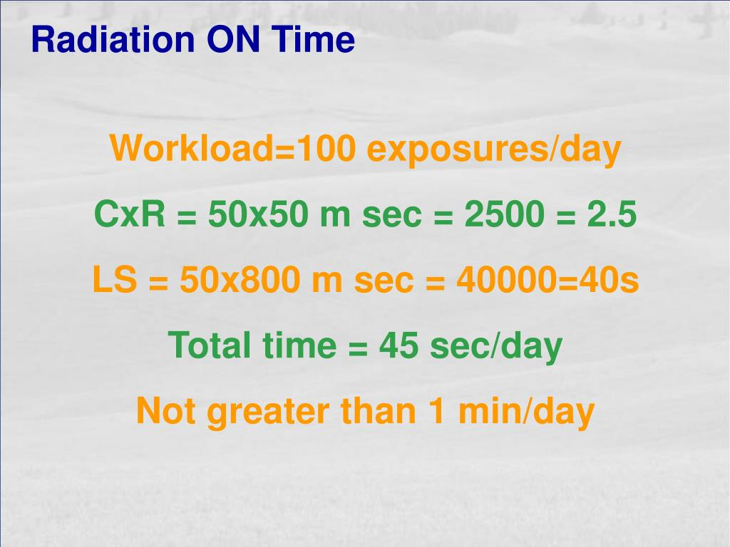 Radiation ON Time