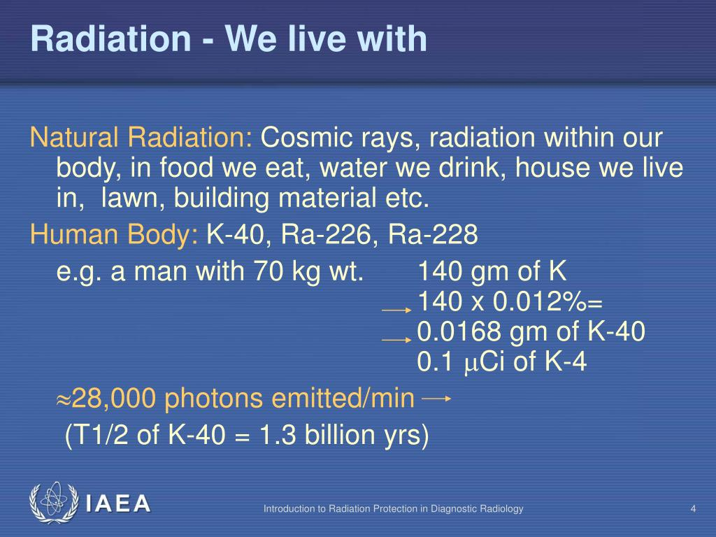 Radiation - We live with
