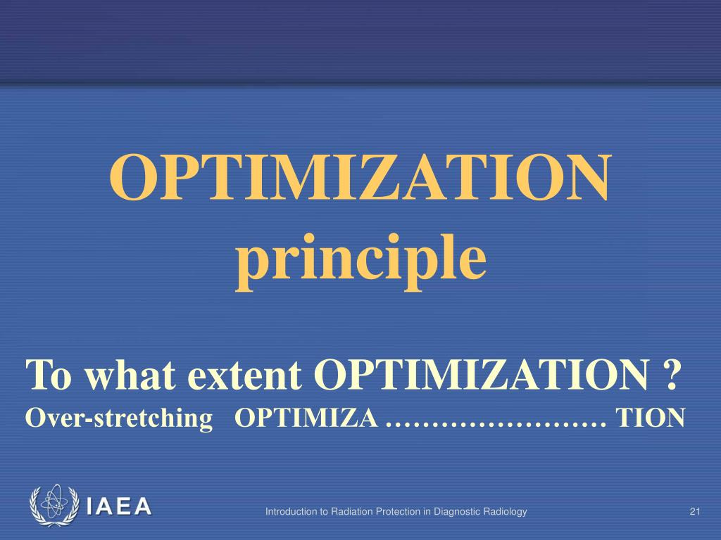 OPTIMIZATION  principle