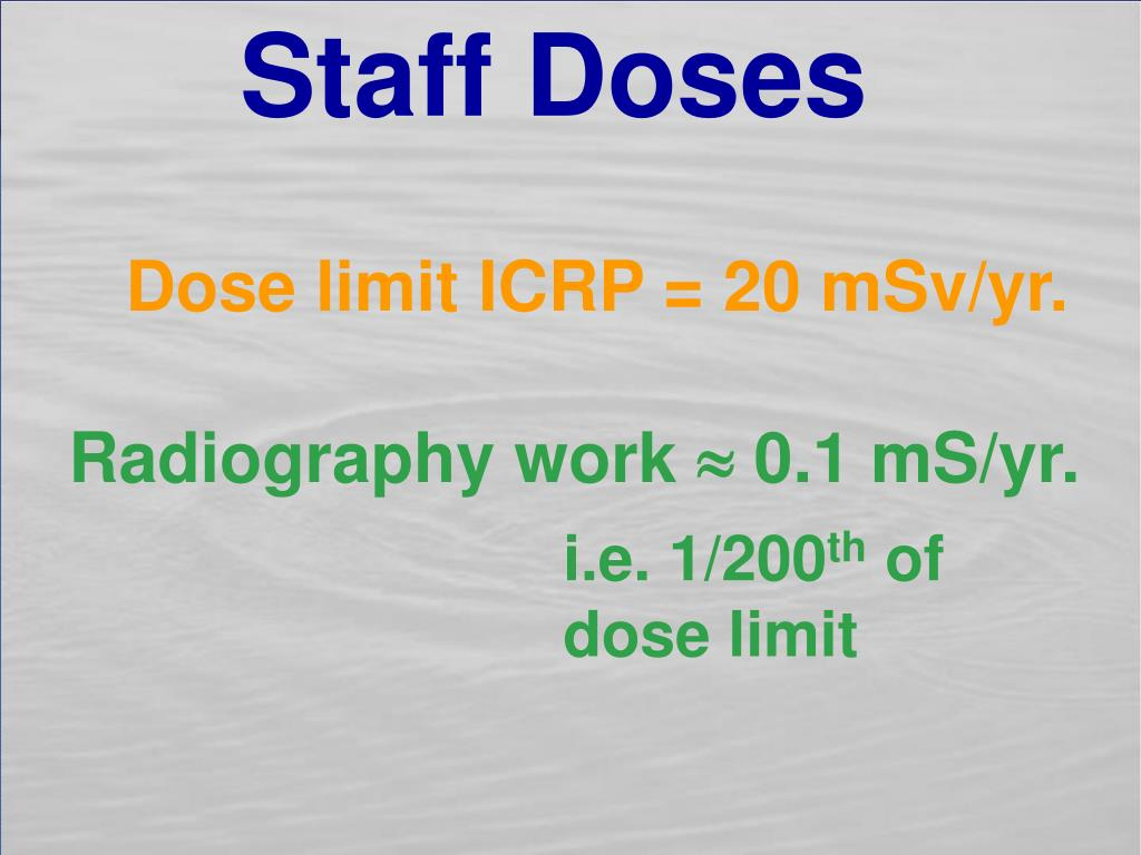 Staff Doses