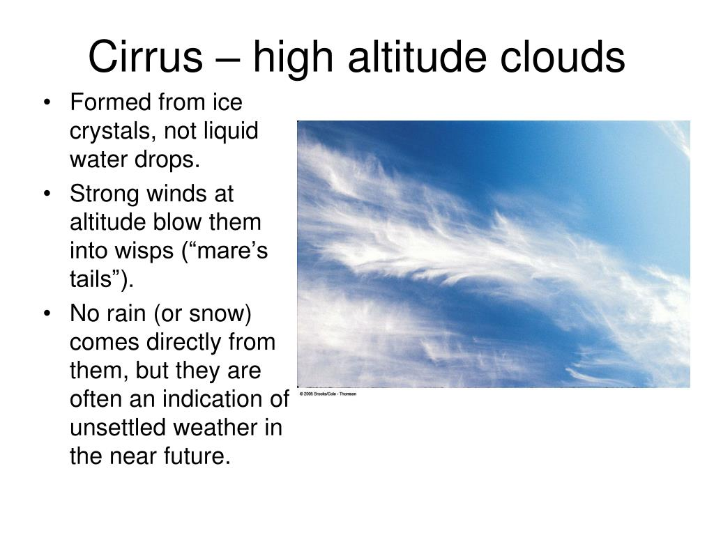 Cirrus – high altitude clouds
