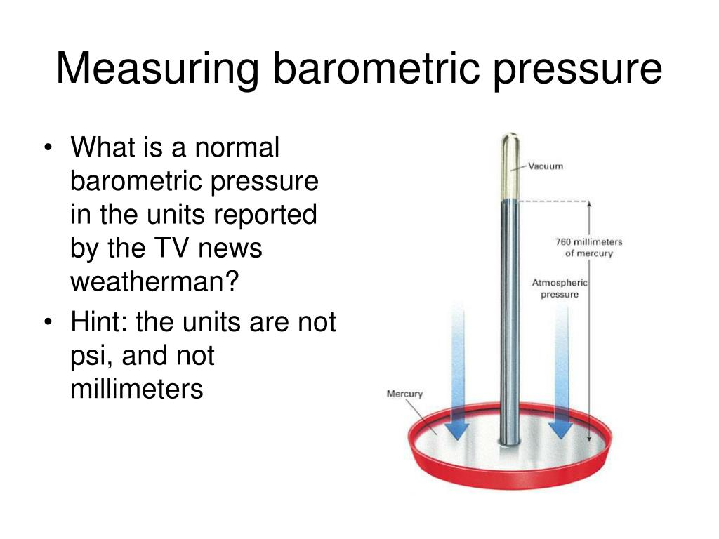Measuring barometric pressure