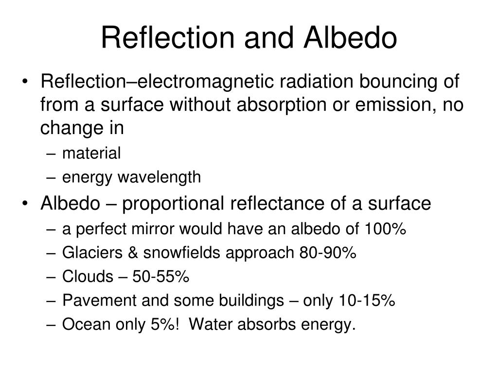 Reflection and Albedo